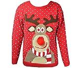 Kinder - Weihnachten Winter Pullover - Rot, 122-128