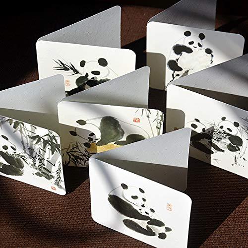 Geburtstagskarte für Freunde, chinesischer Stil, 6 Stück