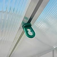 25x Gewächshausclips - Pflanzenhalter Aufhängevorrichtungen für Gewächshaus, Perfekte Ösen Rankhilfe Clips für ihr Paradies