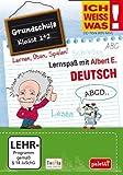 Ich weiss was!: Deutsch - Grundschule Klasse 1 + 2 - Lernspaß mit Albert E.
