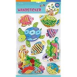 Edition Trötsch 39935 con adhesivo decorativo para pared océano 3D efecto, 8 diferentes pegatinas