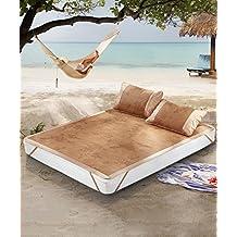 WUFENG Colchón de cama plegable colchón Cool Colchones de bambú colchón tejido de doble cara uso de verano-cama doble
