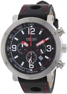 Nautec No Limit - Reloj para caballero de cuero negro de Nautec No Limit