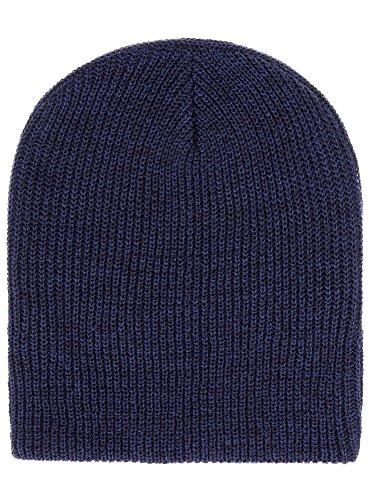 oodji Ultra Homme Bonnet Long Tricoté, Bleu, one siz