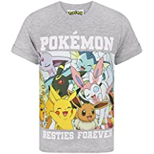 Pokèmon - Camiseta de Manga Modelo Besties Forever para niños
