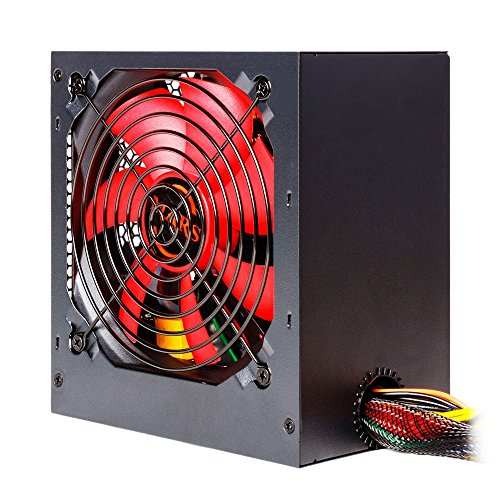 Mars Gaming  MPII550 - Netzteil gaming für PC, (550 W, 12 V, Active PFC, ATX, Ventilator 12 cm, Antivibrationssystem Wirkungsgrad + 85{d02370bd9033158a55e0b8815309bad3afea59cec51333d6f36831db68622e16}), rot und schwarz