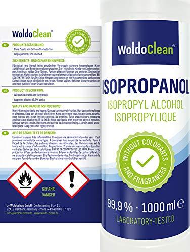 Isopropylique Alcool 99,9% liquide 5x 1.000ml - pour le nettoyage
