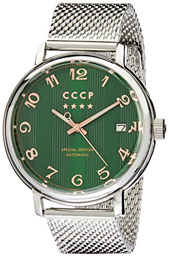 CCCP Men's Heritage 43mm Steel Bracelet & Case Automatic Watch CP-7021-33
