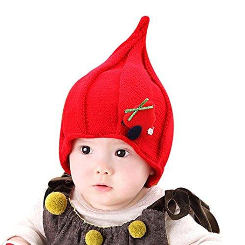 Culater® Bambino Bambini Cappelli Cappello invernale autunno (Rosso)