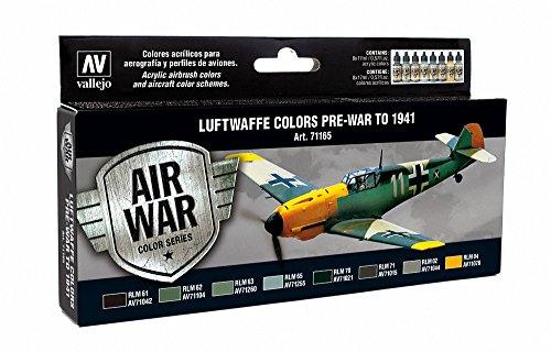 Vallejo Model Air Set di colori acrilici per modelli aerei Luftwaffe