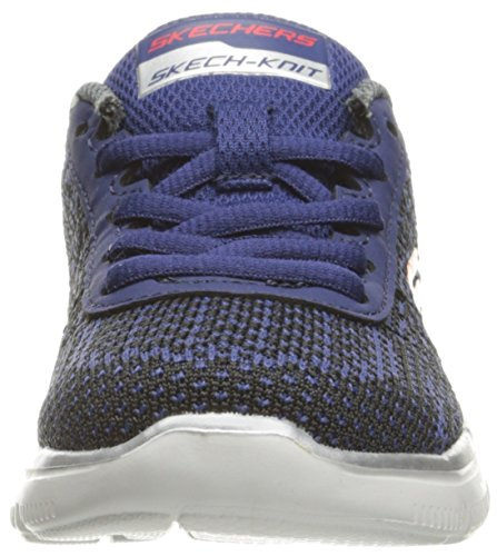 Skechers Flex Advantage 2.0-Golden Poi, Sneakers Basses Garçon Bleu (Nvbk)