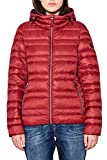 edc by ESPRIT Damen Jacke 087CC1G002, Rot (Dark Red 610), Medium