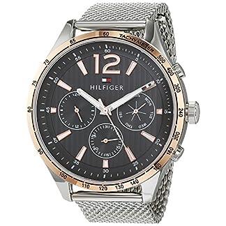 Tommy Hilfiger Reloj Multiesfera para Hombre de Cuarzo con Correa en Acero Inoxidable 1791466