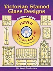 Victorian Stained Glass Designs (Dover Electronic Clip Art)