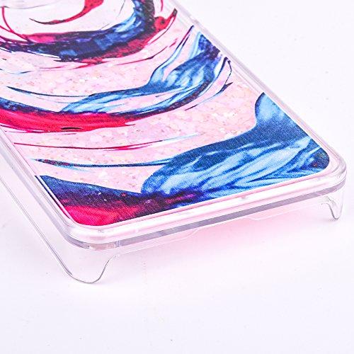 Voguecase® Pour Apple iPhone 6/6S 4,7, Dual Layer Luxe Flowing Bling Glitter Sparkles Quicksand et les étoiles Hard Case étui Housse Etui(Cheval de dessin animé-Pink foncé) de Gratuit stylet l'écran a Amour Quicksand-spirale