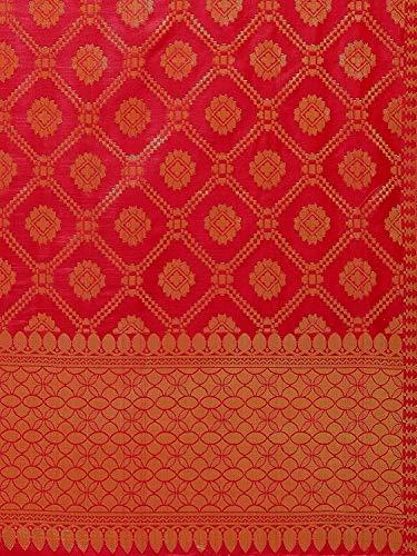 Brand Look Women's Banarasi Silk Woven Zari Work Dupatta