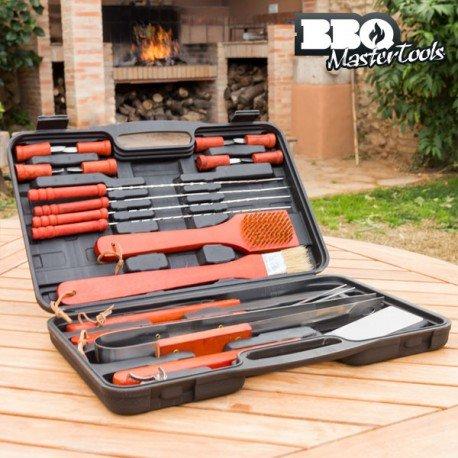 Grill-master-teile (BBQ Master Tools Werkzeugkoffer für Grill, schwarz, (18Teile))