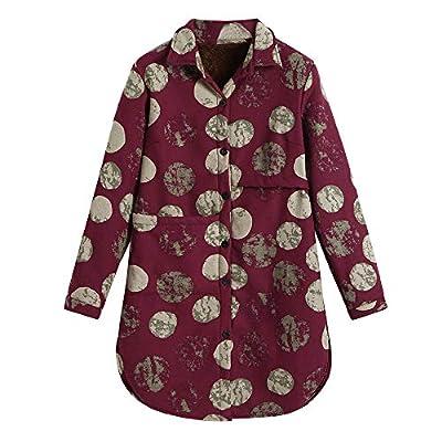 Women's Outdoor Softshell Jackets, Women Cotton Linen Winter Warm Plus Velvet Coat Folk-Custom Print Outcoat Jacket : everything 5 pounds (or less!)
