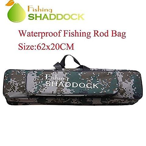 Shaddock Fishing ® 24.4-Inch Carp Fishing Tackle Rod Holdall Bag Oxford Waterproof Fishing Rod Reel Organizer Case Tube Bag