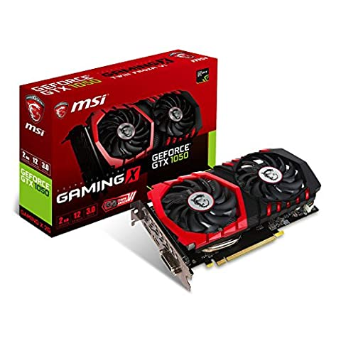 MSI GeForce GTX 1050 Gaming X 2GB Nvidia GDDR5 1x HDMI, 1x DP, 1x DL-DVI-D, 2 Slot Afterburner OC, Gaming App,