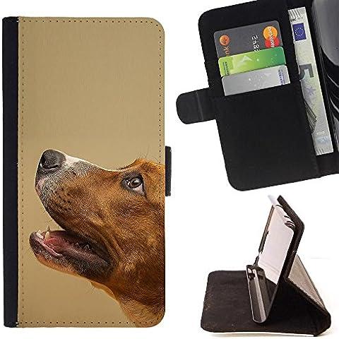 Momo Phone Case-Custodia a portafoglio in pelle, con scomparti per carte di credito, morbida, motivo: cane Fox Terrier Mutt Animali, Cani, LG G4