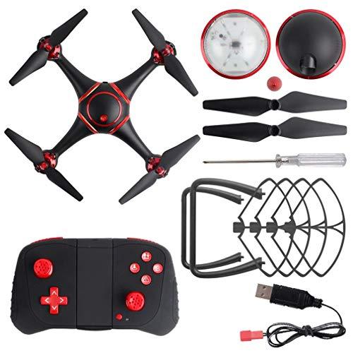 GreatWall S7 LED Drone de Vision Nocturne RC avec caméra 720P WiFi Quadricoptère Hélicoptère Jouet Noir
