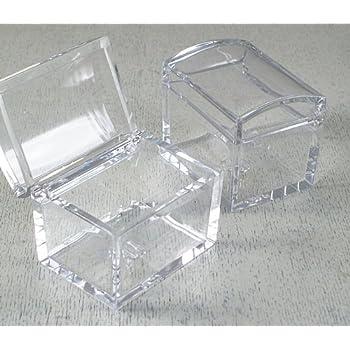 Sachets Transparent 10 À Dragées Plexiglas Irpot X Carré Boîte hQstdr