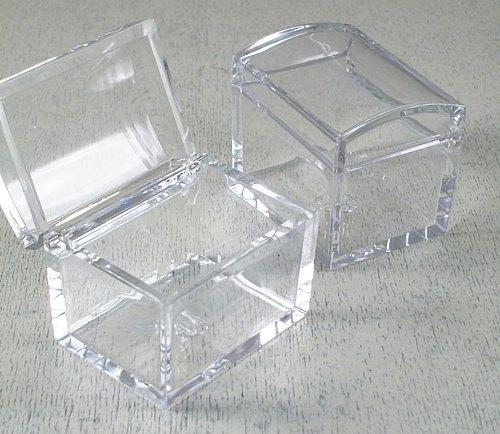 Irpot - 10 x scatola portaconfetti in plexiglass trasparente a bauletto