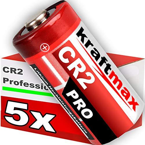 kraftmax 5er Pack CR2 Lithium Hochleistungs- Batterie für professionelle Anwendungen - Neueste Generation -