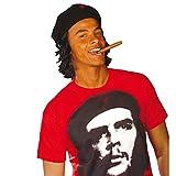 Che Guevara Mütze mit Haaren Cap Hut Freiheitskämpfer roter Stern Kopfbedeckung Kuba Faschingsmütze Karnevalsmütze