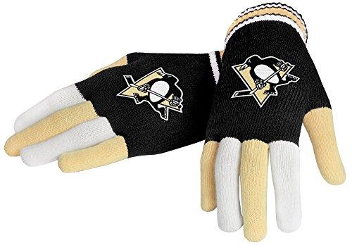 NHL Pittsburgh Penguins Knit guanti, nero, taglia unica