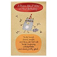 American Greetings Funny Raccoon Birthday Card with Foil