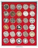 LINDNER Original Münzbox 2226 für 10 EURO/10 DM in Münzenkapseln - Standard