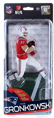 New England Patriots NFL Series 36 Figure Rob Gronkowski Classic Uniform Variant