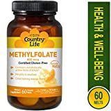 Country Life Methyl Folate 800 mcg Lozenges, 60 Count by Country Life