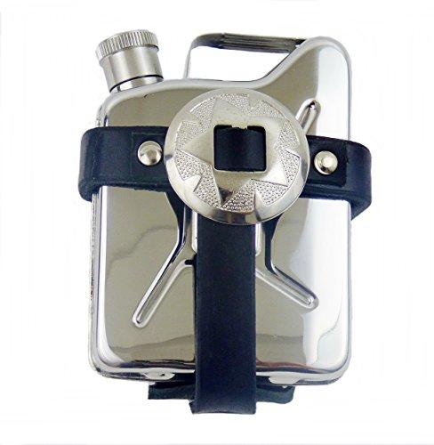 Gürteltasche aus Leder mit Flachmann Taschenflasche Kanister Edelstahl Concha -