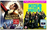 Pitch Perfect 1 / Pitch Perfect 2 / Pitch Perfect 3 / The Greatest Showman Movie Plus Sing-along Musical Blu Ray collection + Digital Download + Extras + The Family Behind the Greatest Showman + The Spectacle + Galleries +Music Machine