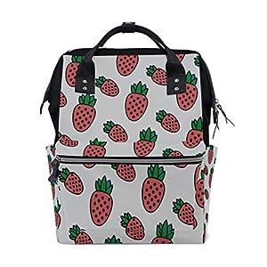 Erdbeerfrucht Mode Große Kapazität Windel Taschen Mummy Rucksack Multi...