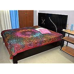 Mandala de la hoja de cama del Hippie india colgar de la pared de la tapicería Gypsy Queen Ropa de Cama