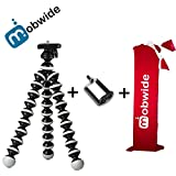 #4: MOBWIDE Tripod/Gorilla Tripod/Gorilla POD/Flexible Mini Tripod for Mobile Phone/DSLR/Digital Camera (10INCH Height) with Universal Mobile Mount Holder and Tripod Bag (Assorted Colour)