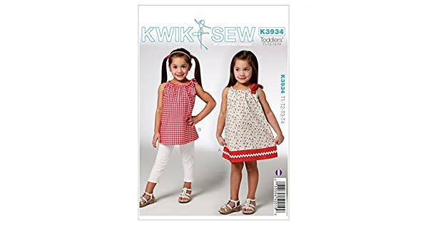 Kwik Sew Schnittmuster 3934 – Kleid für Kleinkinder (O/S): Amazon.de ...