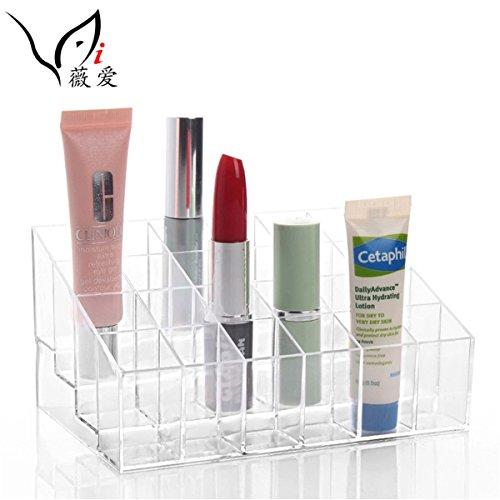 LiangGui Makeup Lippenstift Halter Display Organizer Riser 5,6 Zoll 24 Gitter