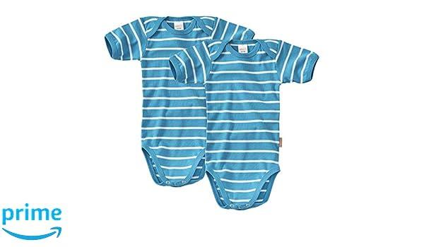 Filles Body Enfant /à Manches Courtes Turquoise Blanc Lot De 2 Body b/éb/é WELLYOU Taille 104-134