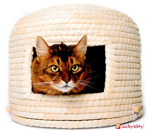 """Traditioneller japanischer Katzenkorb \""""Neko-Chigura\"""" (猫ちぐら) von Lucky-Kitty"""