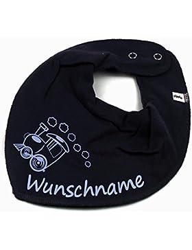 HALSTUCH Lokomotive Zug mit Namen oder Text personalisiert für Baby oder Kind verschiedene Ausführungen