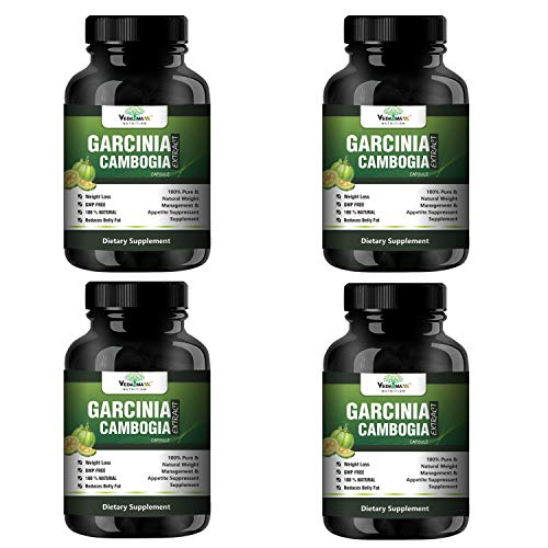 VEDA MAXX Garcinia Cambogia Extract 100% Veg Weight Loss/Fat Burner Supplement (Pack of 04 each contain 500Mg – 60 Capsules)