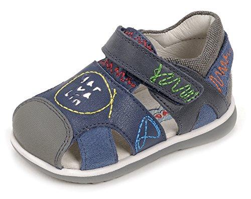 Garvalín 172335, Sandalias para Bebés, Azul (Navy/Jeans / Sauvage), 18 EU