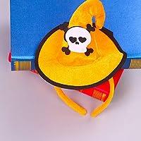 JullyeleESgant Sombrero de Esqueleto de Bruja de Colores Bruja Ganchos de Navidad Hebilla de Cabeza de Halloween Props Traje de Moda Vestir Accesorios