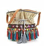 EUWK KUEJF Totes Bag Weibliche Shopper Umh?ngetasche Sommer Stroh Strandtaschen Frauen Handtasche Kausal Holiday Lady Basket Travel Coffee