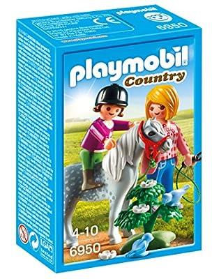 Playmobil - 6950 - Jeu - Cavalière + Soigneur et Poney